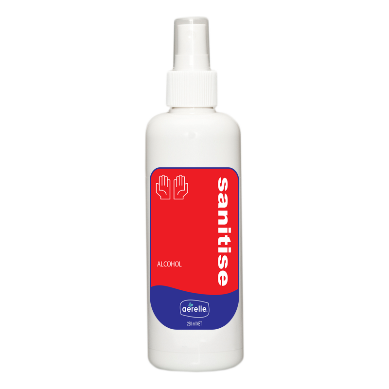 Alcohol Hand Sanitiser Spray Ardrich Aerelle 250ml