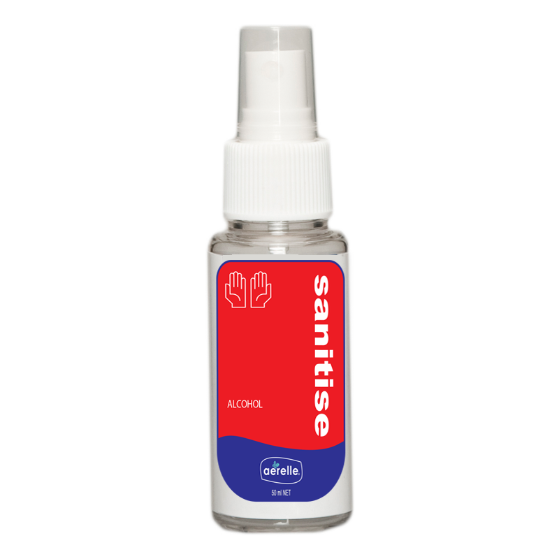 Alcohol Hand Sanitiser Spray Ardrich Aerelle 50ml